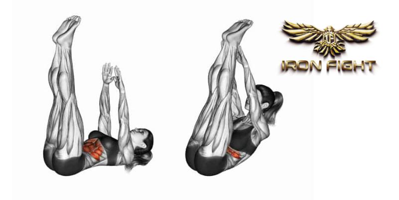 Abdominal com elevação de pernas